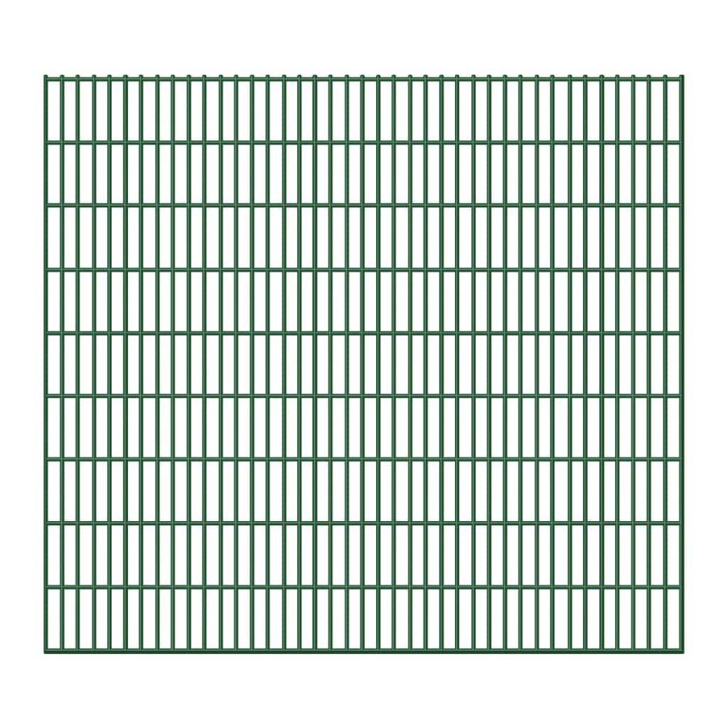Zahradní plot 2D železný plotový dílec 6/5/6 mm drát 15 ks 183 cm 30 m