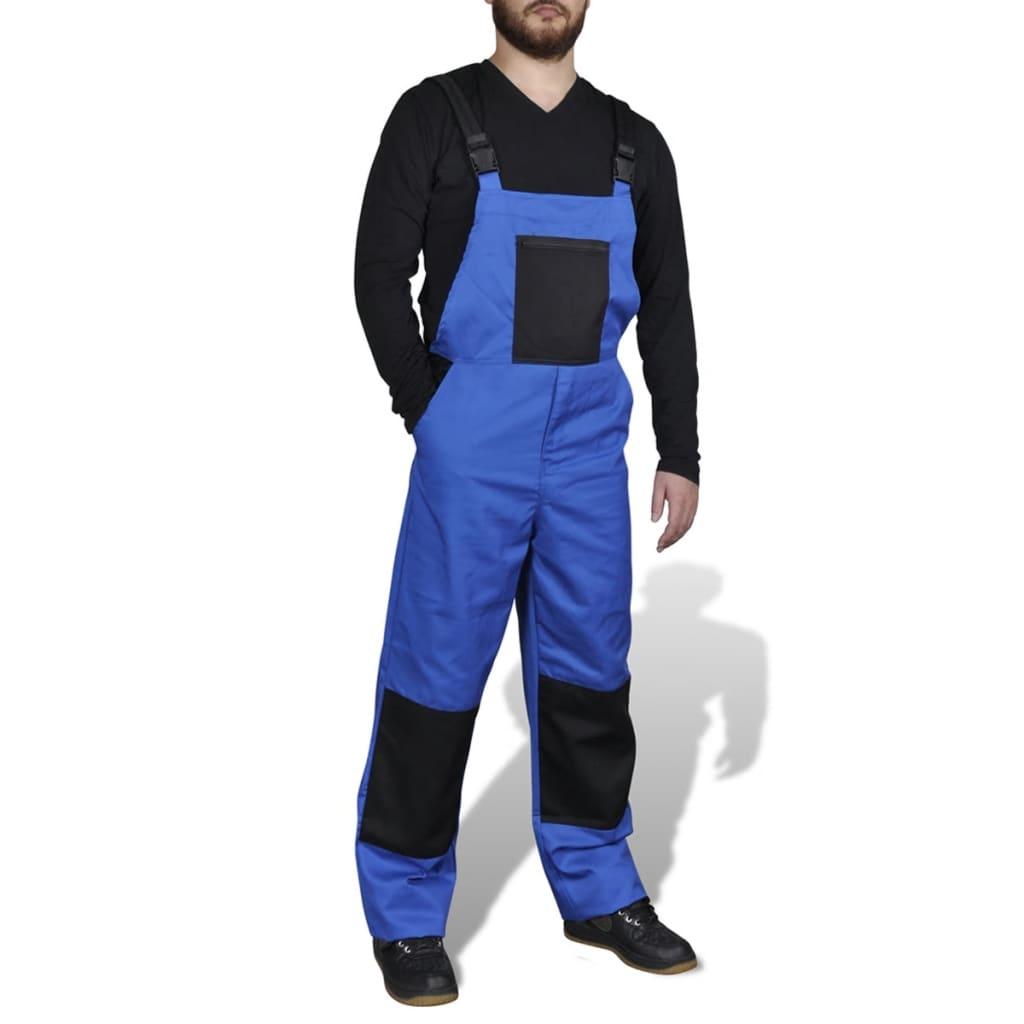 Modré pánské pracovní kalhoty / montérky s laclem 44/46