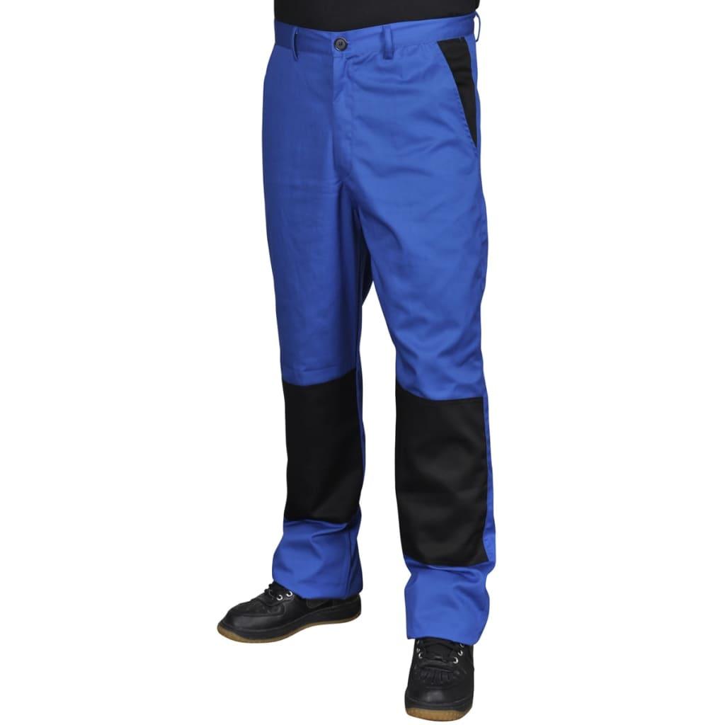 Modré pánské pracovní kalhoty / montérky do pasu 44/46