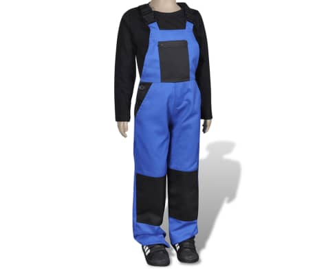 acheter salopette de travail enfant bleu 134 140 pas cher. Black Bedroom Furniture Sets. Home Design Ideas