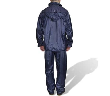 Regenpak 2-delig met capuchon (mannen / marineblauw / maat XL)[2/6]
