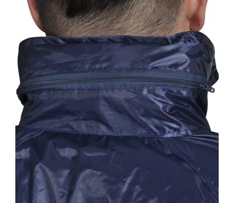 Blaue Regenbekleidung für Männer 2-teilig mit Kapuze Größe XL[3/6]