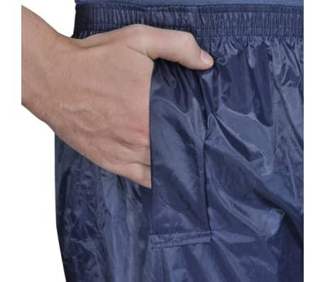 Blaue Regenbekleidung für Männer 2-teilig mit Kapuze Größe XL[4/6]