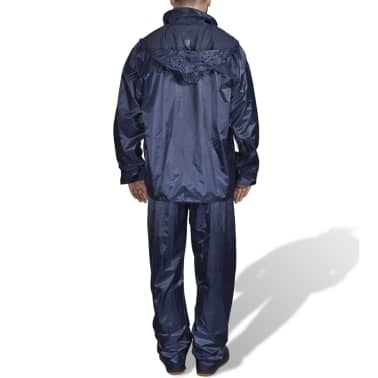 Blaue Regenbekleidung für Männer 2-teilig mit Kapuze Größe XL[2/6]