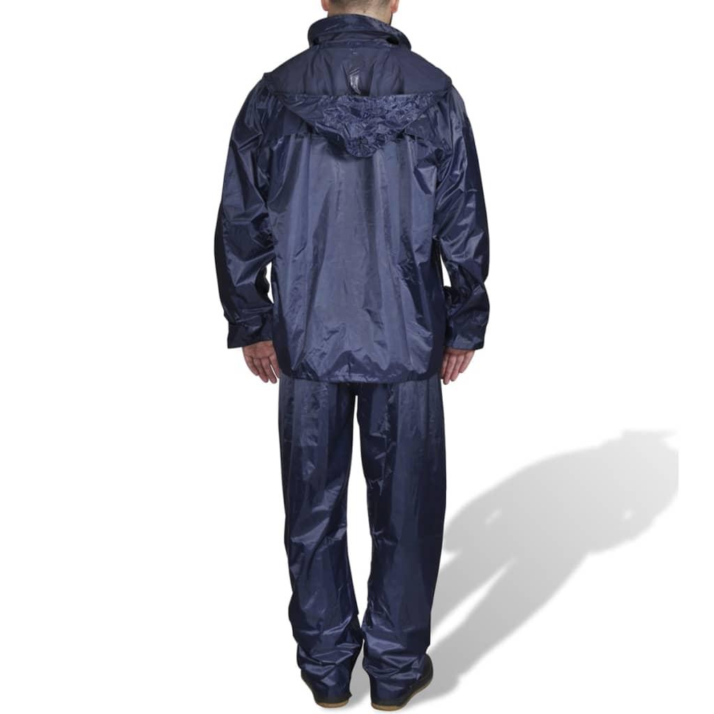 Pánský 2 dílný oblek do deště s kapuc, velikost XXL, námořnická modrá