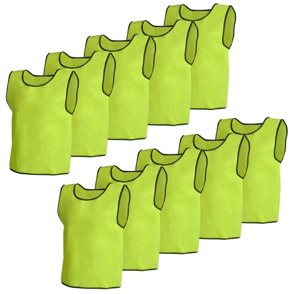 Image of vidaXL 10 pcs Yellow Sport Bib Junior