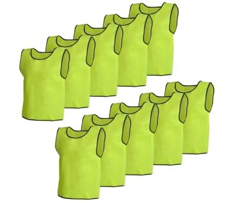 Camisas sem mangas amarelas para treinar 10 peças