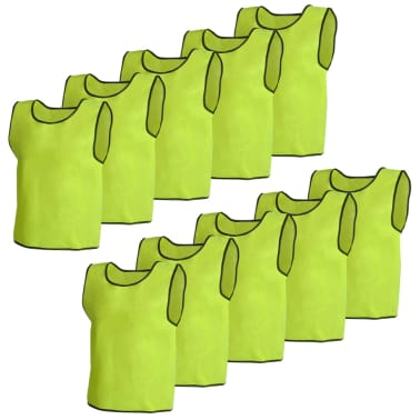 10 pcs Gilet de formation Junior Jaune[1/4]