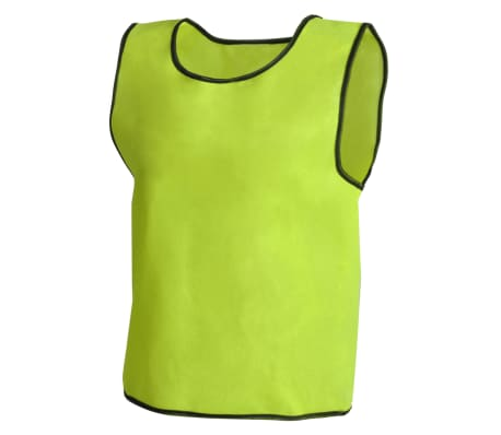 10 pcs Gilet de formation Junior Jaune[3/4]