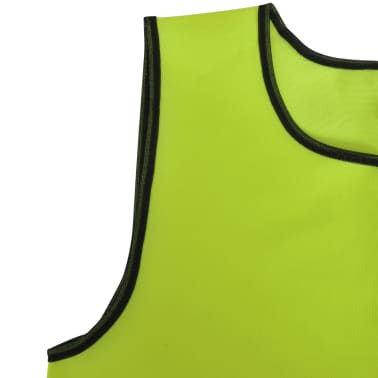10 pcs Gilet de formation Junior Jaune[4/4]