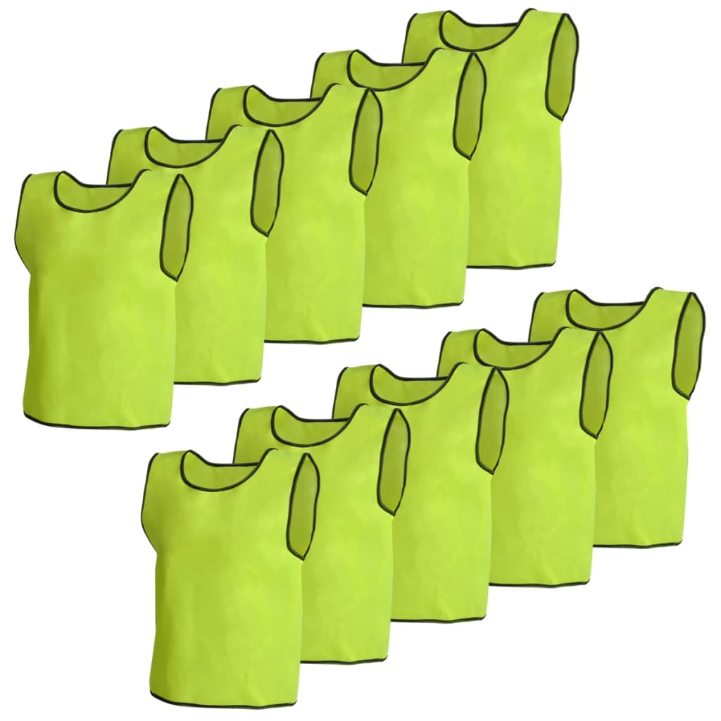 Image of vidaXL 10 pcs Yellow Sport Bib Senior