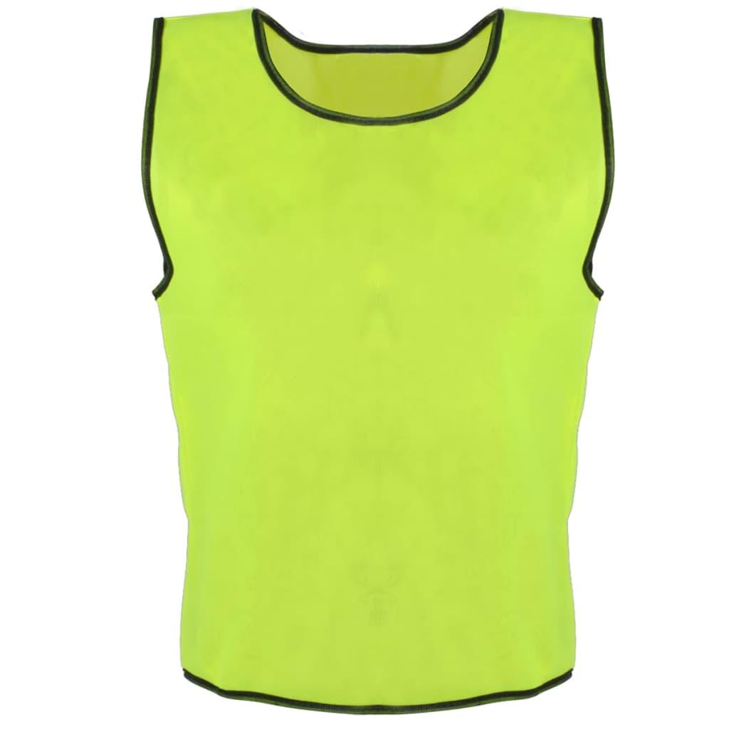 Rozlišovací sportovní / tréninková vesta senior - 10 Ks - žlutá