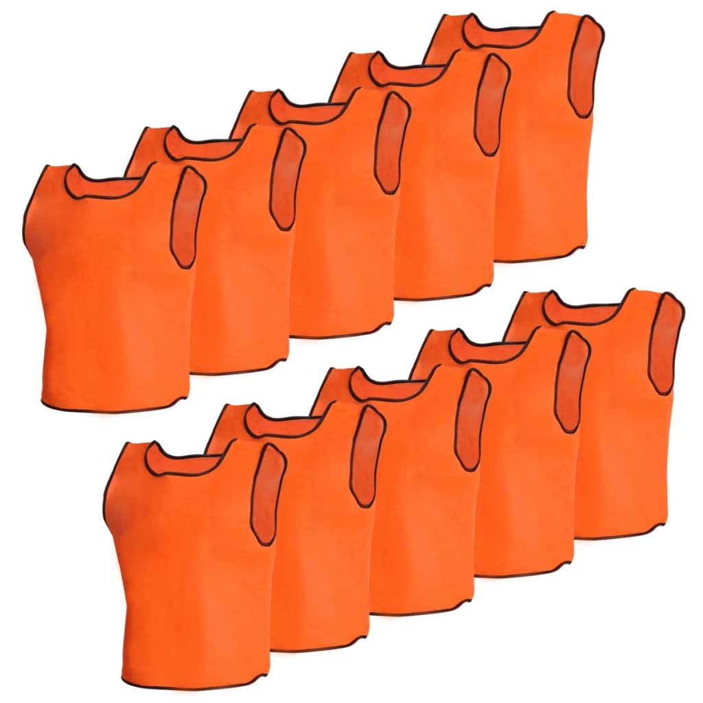 Image of vidaXL 10 pcs Orange Sport Bib Junior