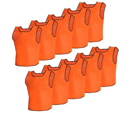10 petos deportivos naranjas juveniles