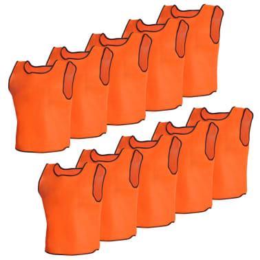 10 petos deportivos naranjas juveniles[1/4]