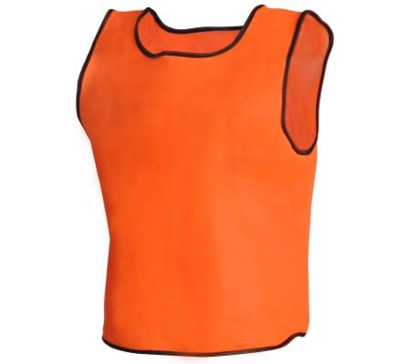 10 petos deportivos naranjas juveniles[3/4]