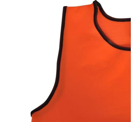 10 petos deportivos naranjas juveniles[4/4]