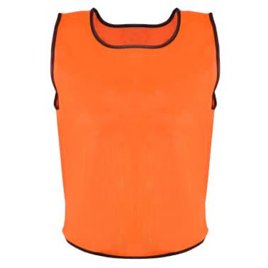 10 petos deportivos naranjas juveniles[2/4]