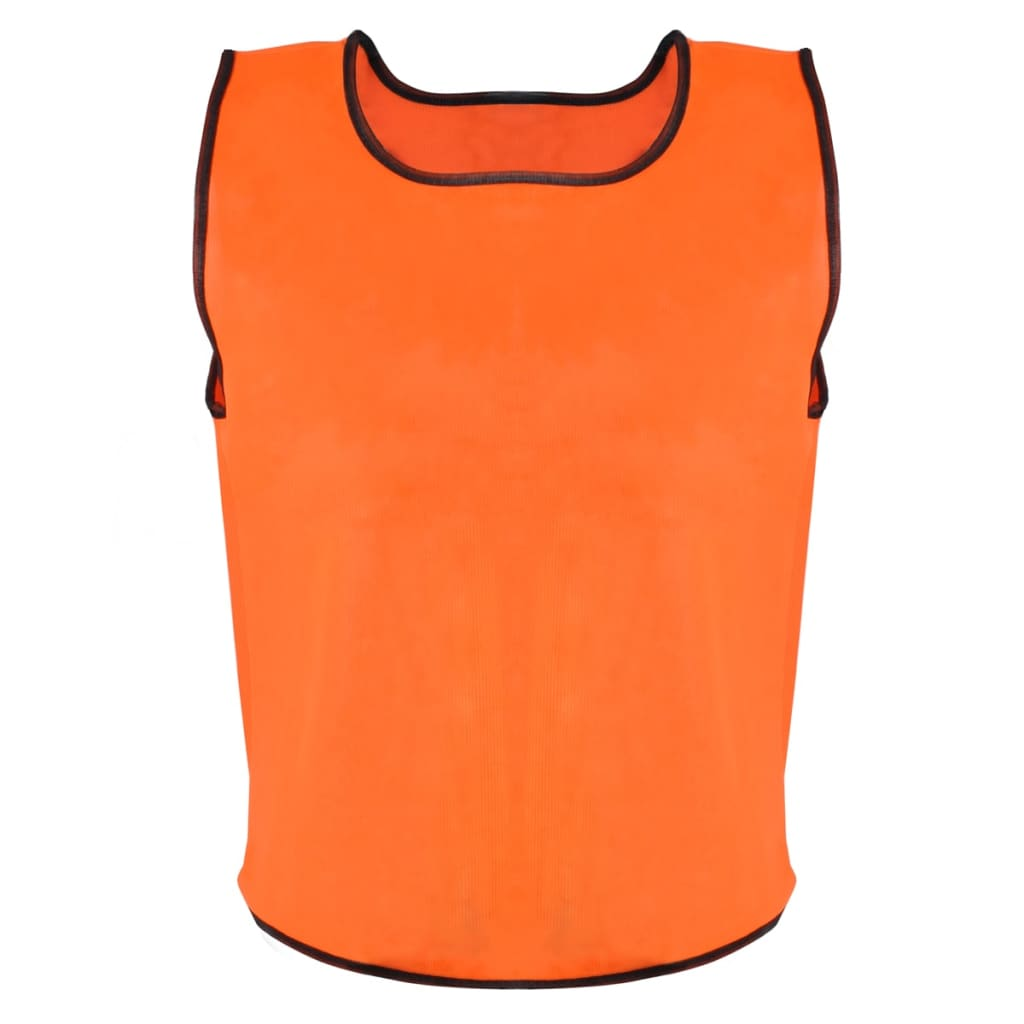 Rozlišovací sportovní / tréninková vesta senior - 10 Ks - oranžová