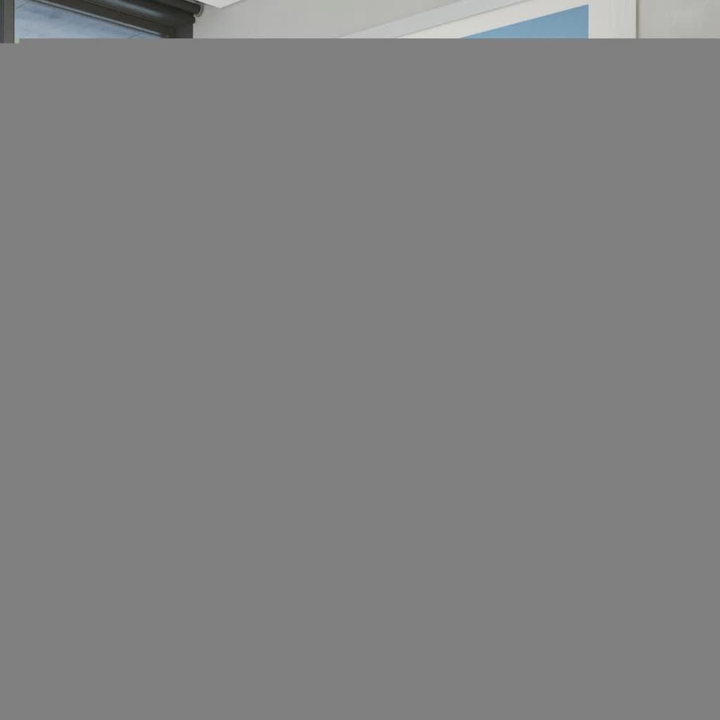 Bílý rám postele z umělé kůže 140 x 200 cm