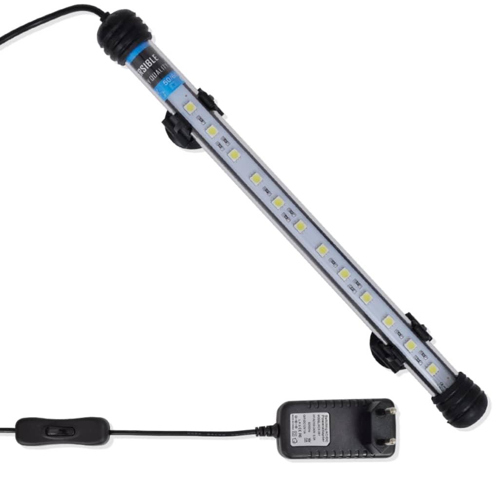 vidaXL Lampă cu LED pentru acvariu alb 28 cm poza vidaxl.ro