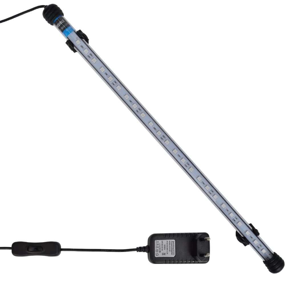 vidaXL Lampă cu LED pentru acvariu, albastru, 48 cm imagine vidaxl.ro