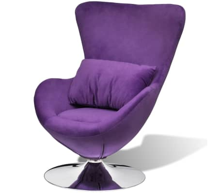Delicieux VidaXL Purple Egg Swivel Chair With Cushion Small