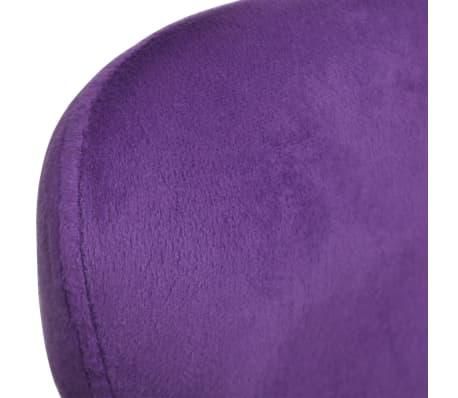 vidaXL Purple Egg Swivel Chair with Cushion Small[5/6]