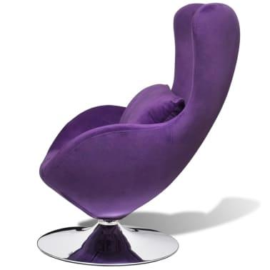 vidaXL Purple Egg Swivel Chair with Cushion Small[3/6]