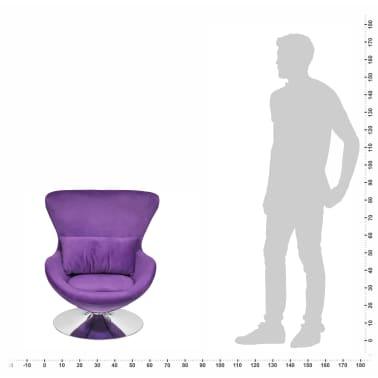 vidaXL Purple Egg Swivel Chair with Cushion Small[6/6]