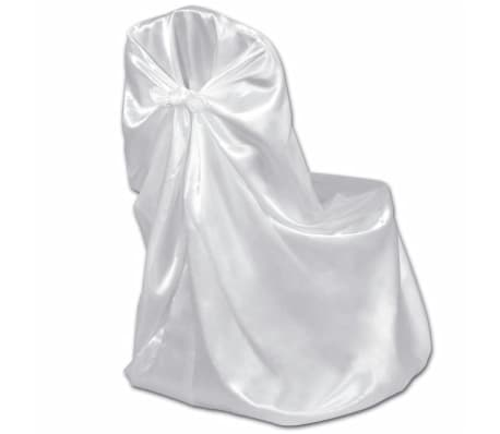 6 pcs White Chair Cover for Wedding Banquet[3/3]