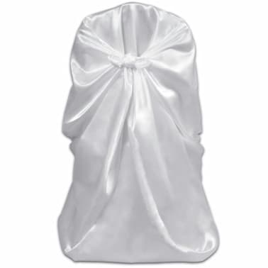 6 pcs White Chair Cover for Wedding Banquet[2/3]