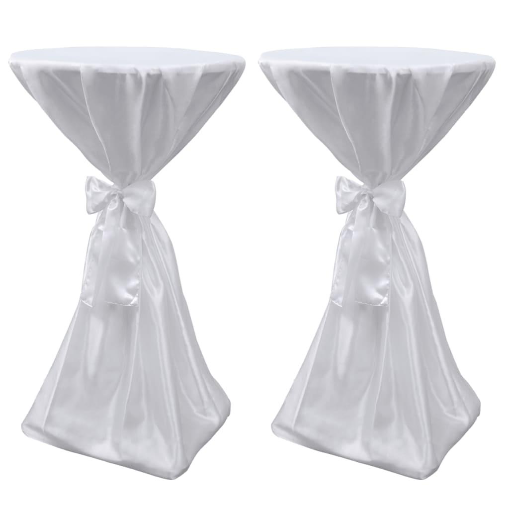 Set 2 fețe de masă pentru evenimente 60 cm cu panglică, Alb poza vidaxl.ro