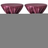 Návlek na stôl so stuhou, vínový, 80 cm, 2 ks