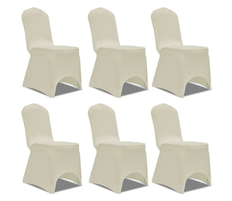 Chair Cover Stretch Cream 6 pcs[1/7]