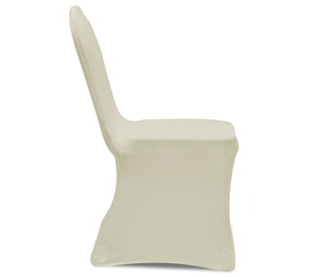 Chair Cover Stretch Cream 6 pcs[4/7]