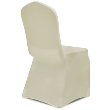 Chair Cover Stretch Cream 6 pcs[5/7]