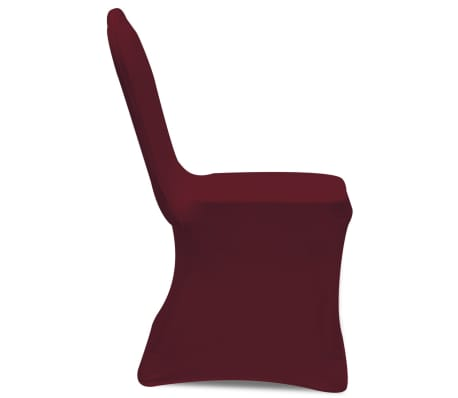 Housse bordeaux extensible pour chaise 6 pièces[4/7]