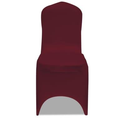 Housse bordeaux extensible pour chaise 6 pièces[3/7]