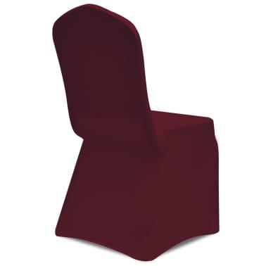 Housse bordeaux extensible pour chaise 6 pièces[5/7]