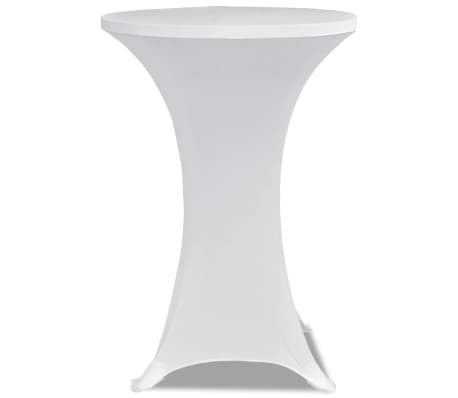 Housse de table ?60cm Blanche extensible 2 pcs[3/4]
