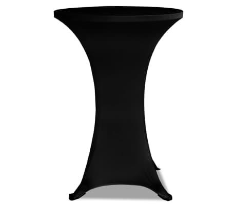 vidaXL Obrus na stół barowy Ø 60 cm, czarny, elastyczny, 2 szt.[3/4]