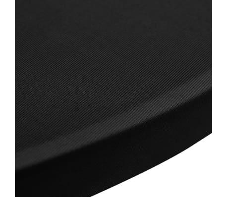 vidaXL Obrus na stół barowy Ø 60 cm, czarny, elastyczny, 2 szt.[4/4]