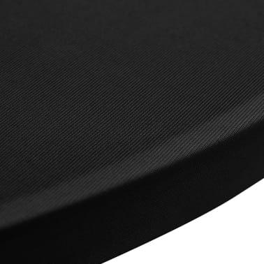 Faţă de masă pentru mese înalte Ø 70 cm Negru Elasticizată 2 buc[4/4]