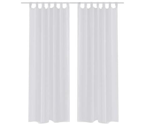 Acheter Rideau transparent blanc 140 x 225 cm 2 pcs pas cher | vidaXL.fr