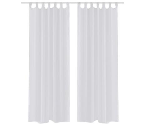2 x transparente gardine fertiggardine 140 x 225 wei g nstig kaufen. Black Bedroom Furniture Sets. Home Design Ideas