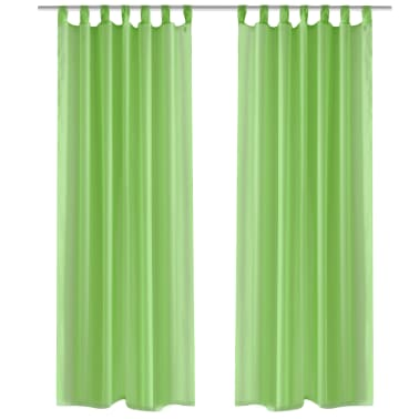 acheter rideau transparent pomme vert 140 x 225 cm 2. Black Bedroom Furniture Sets. Home Design Ideas