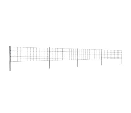 Clôture galvanisé avec poteaux 50 m 80/6/30[1/8]