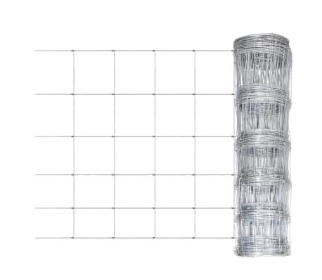 Clôture galvanisé avec poteaux 50 m 80/6/30[2/8]