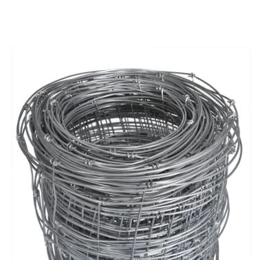 Clôture galvanisé avec poteaux 50 m 80/6/30[4/8]